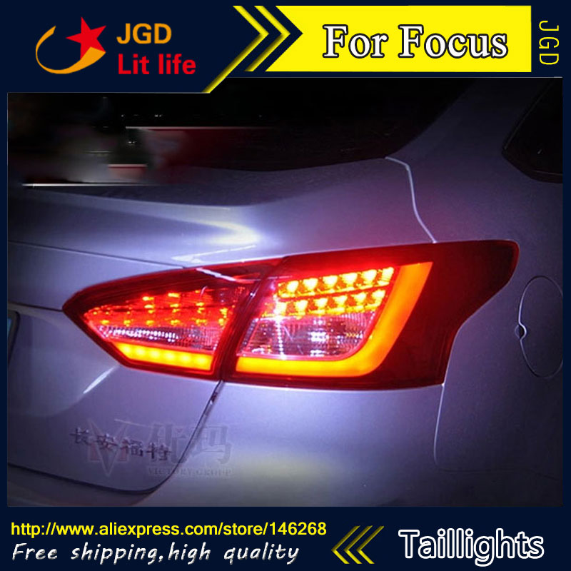 цена на Car Styling tail lights for Ford Focus 2012 2013 2014 LED Tail Lamp rear trunk lamp cover drl+signal+brake+reverse