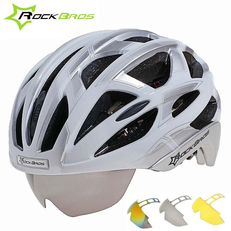 Rockbros велосипедный шлем Для женщин Для мужчин 3 объектива дорога горный велосипед Безопасный шлем интегрально-литой шлем Capacete Ciclismo