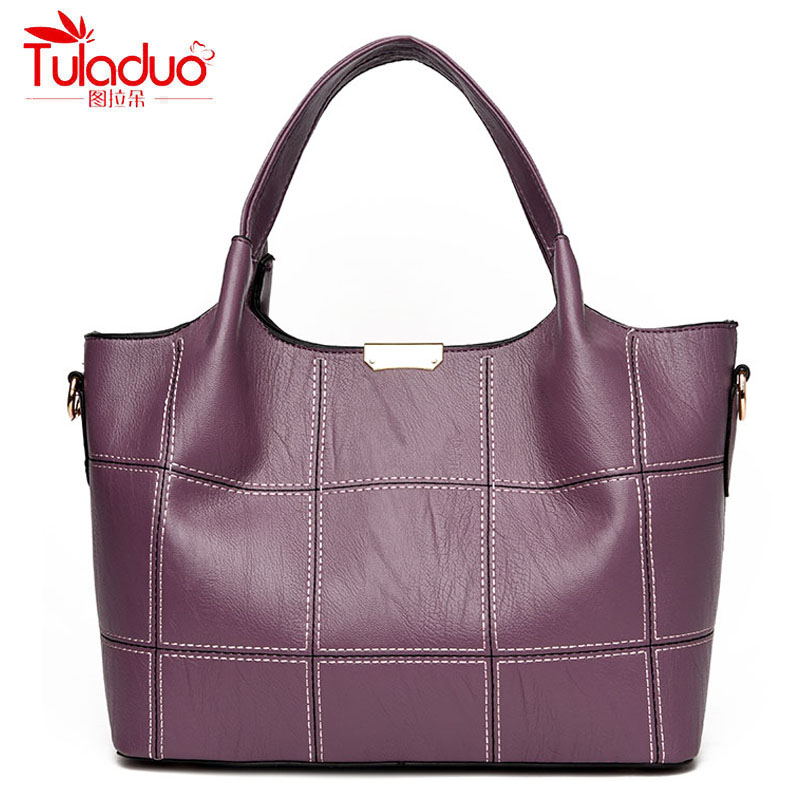 Fashion Plaid Women's Handbags High Quality PU Leather Women Shoulder Bags Famous Brand Women Top-Handle Bags Spring Tote Bag famous brand women handbags pu leather bag women tote high quality ladies shoulder bags large capacity ladies top handle bags