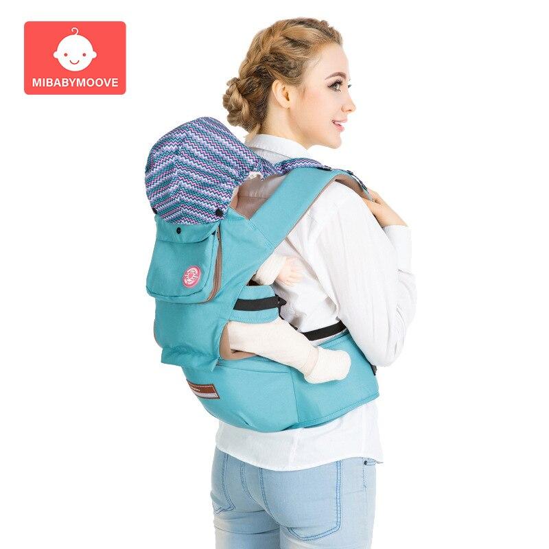 Porte-bébé ergonomique avec capuche sac à dos à bandoulière pour bébé