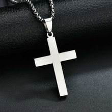 Eleple Fine Stainless Steel Cross Pendant Necklaces for Men or Women Religion Fashion Jewelry Wholesale Manufacturers S-N436