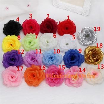 300PCS 8CM Fabric Artificial Rose Silk Flowers DIY Accessories Wedding Arch Flowers Wall Flower Vine Decoration