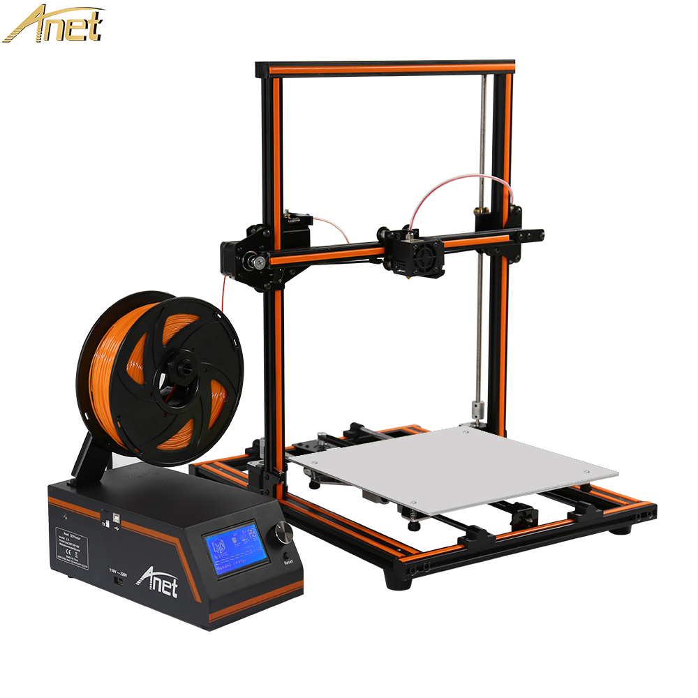 Anet E12 E10 FDM 3D Printer DIY Kit Partially Assembled Aluminum Alloy Frame Plus Size 300