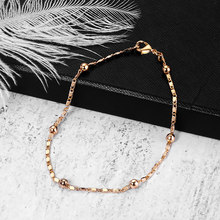 2mm Thin Marina Link Chain 585 Rose Gold Bracelet for Women Girls Woman Bracelet Wholesale Jewelry Valentines Gifts 20cm CB11(Hong Kong,China)