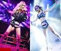 O Envio gratuito de Moda Beyonce DJ Traje Feminino Trajes Cantor Roupas Desempenho Trajes de Dança Gaze Patchwork Cauda de Andorinha Conjunto