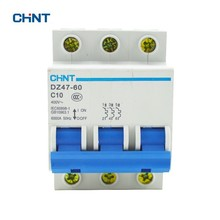 CHINT DZ47-60 C10 3P 10A 3 Pole Domestic C Type Small Air Switch Unipolar Electric Shock Protection