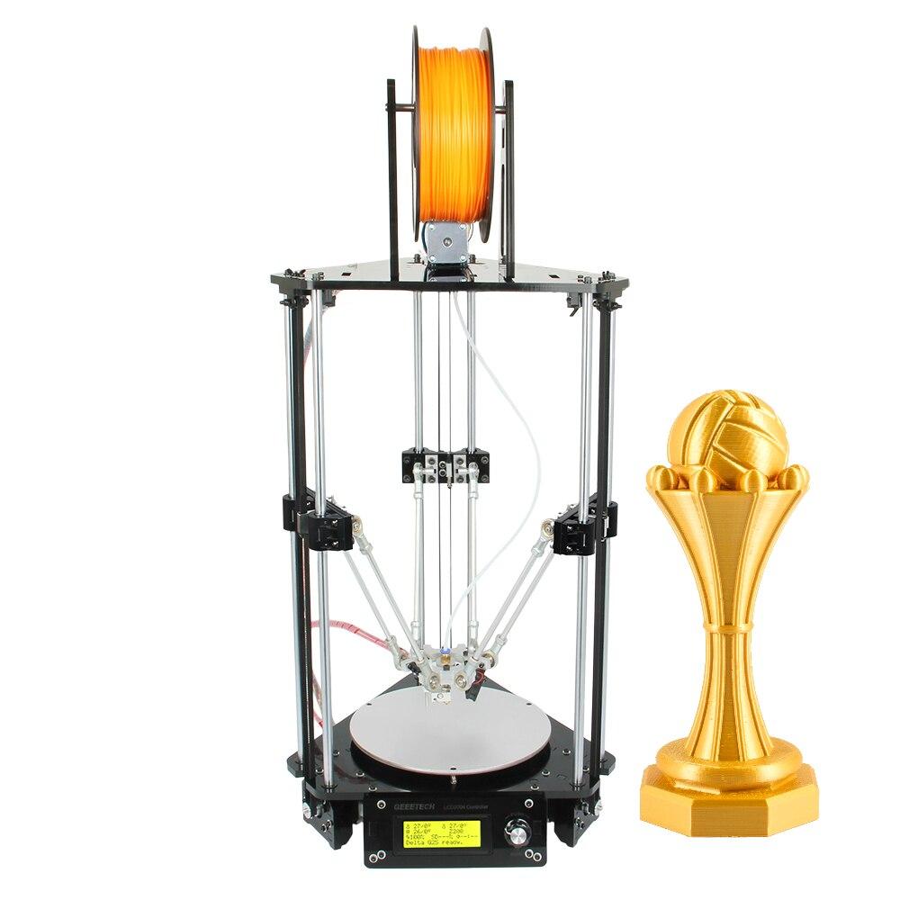 Geeetech 3D Printer Auto Leveling Delta Rostock Mini G2 New Upgraded DIY Kits LCD2004 Free