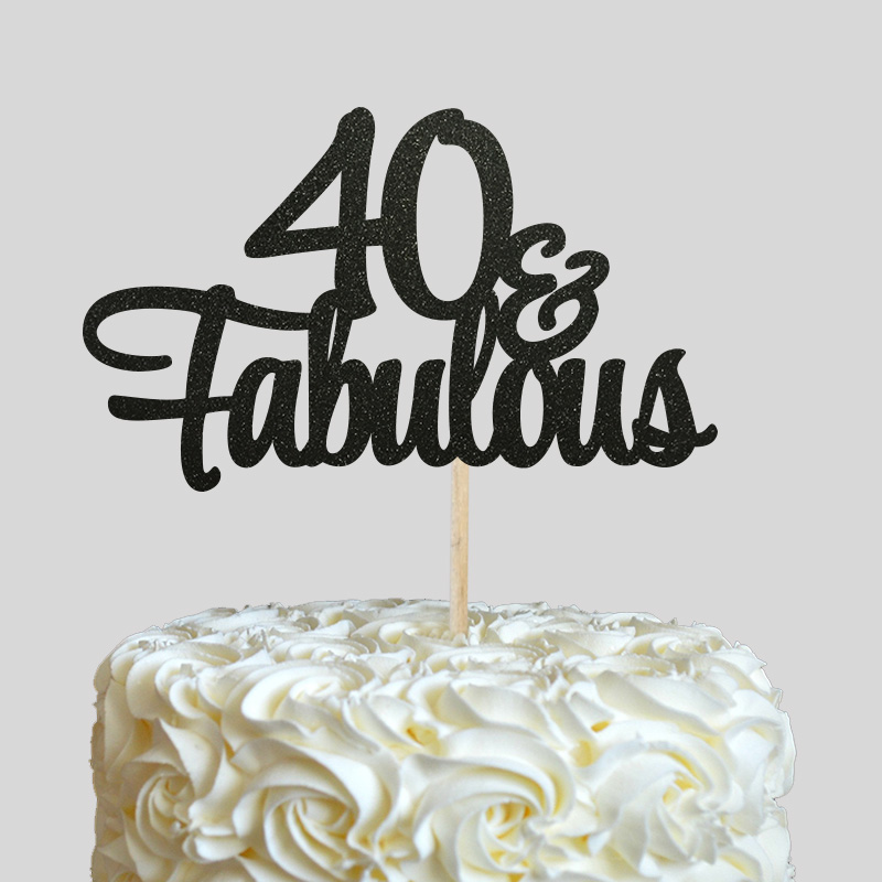 Outstanding 40 Fabulous Cake Topper 40Th Birthday Party Decor Many Colors Funny Birthday Cards Online Overcheapnameinfo