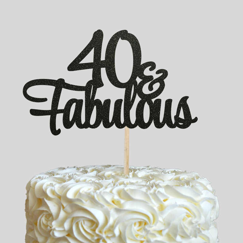 Surprising 40 Fabulous Cake Topper 40Th Birthday Party Decor Many Colors Personalised Birthday Cards Cominlily Jamesorg