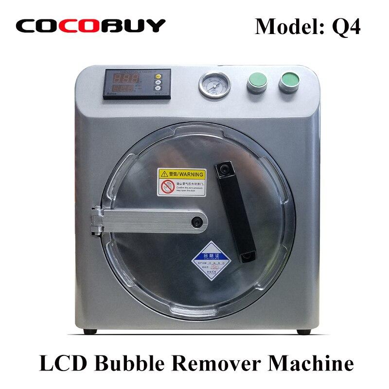 Novecel Q4 OCA Bubble Remover Machine Auto Air Removing For Samsung and Iphone LCD Refurbishment Silver Grey