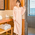 Autumn Winter Thickening Coral Fleece Robe Female Long Design Flannel Sleepwear Women's Bathrobes Nightgown Lounge 2017 New Hot