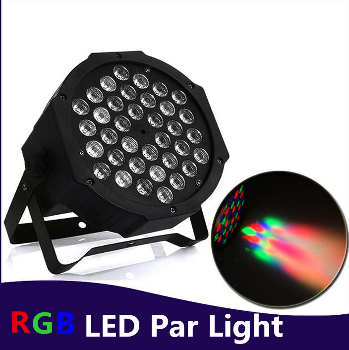 4pcs/lot RGB Stage Light 36 LEDS Par Light Disco DJ Lighting dmx led par 36x3W Club Party light Strobe AC110-240V Fast Shipping