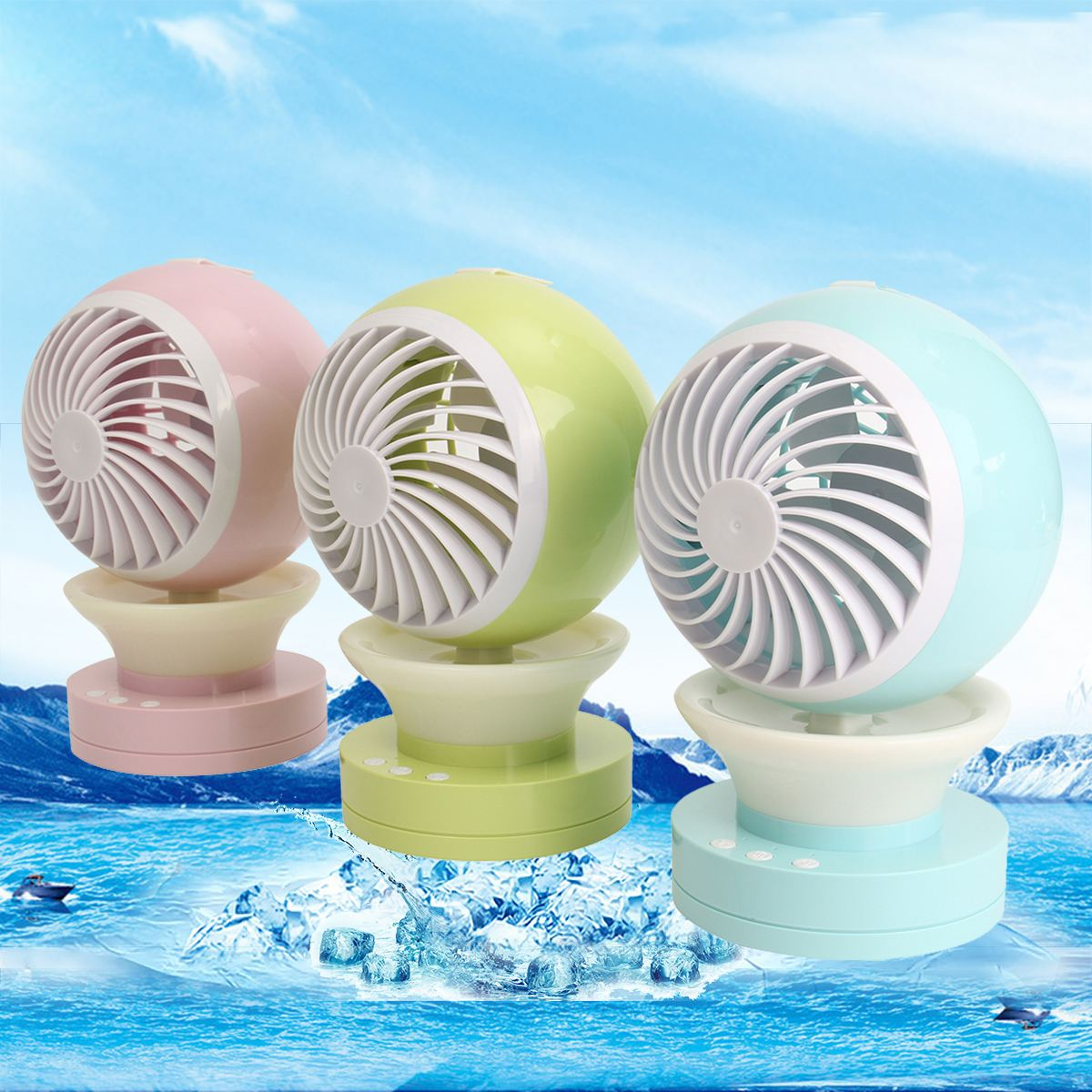 Outdoor camping hiking travel tool Mini Portable Air Conditioning Fan USB Mist Spray Home Cooling Humidifier portable handhold powerful fan mini outdoor mist water cooling spray fan