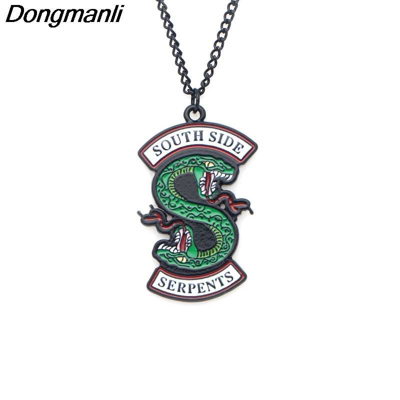 P2815 Dongmanli Fashion Riverdale South Side Serpents Metal Enamel Charm Pendant Necklace Fans gift Jewelry