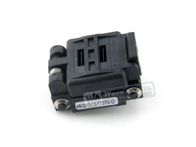 все цены на Modules Plastronics 48QN50K17070 48QN50S17070 IC Test Socket Adapter 0.5mm Pitch QFN48 MLP48 MLF48 Package Free Shipping онлайн