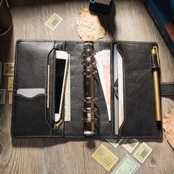 Echte Koe Lederen Cover Retro Traveler 'S Notebook Dagboek Journal Vintage Handgemaakte Caderno Schetsboek Business Planner Bullet