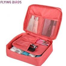 Косметический чехол с летящими птицами, сумка для макияжа, женская переносная сумка для хранения туалетных принадлежностей, водонепроницаемые дорожные сумки LS8973 LM4092fb