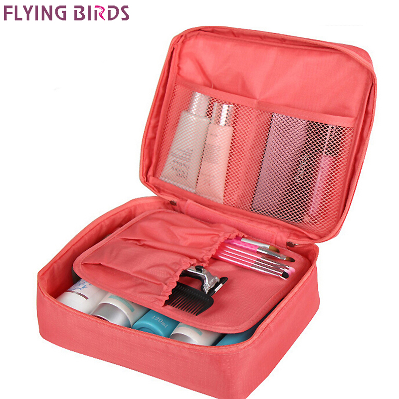Flying birds cosmetic case makeup bag wash bag women portable bag toiletry storage waterproof travel bags