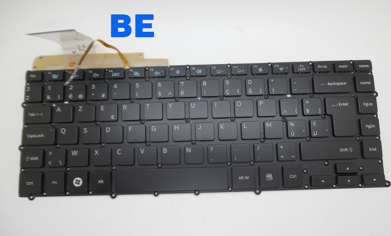 New Laptop Keyboard For SAMSUNG NP900X4B NP900X4C NP900X4D BE/Belgium/CZ/SPANISH/UK/US/RUSSIAN/DANISH/Norwegian  Layout(China)