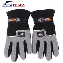 SEAPESCA, регулируемые рыболовные перчатки, мужские, полный палец, противоскользящие, зимние, теплые, для спорта на открытом воздухе, ветрозащитные, для рыбалки, для мужчин, t JK448