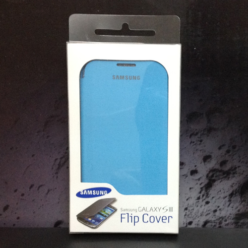 OEM Samsung I9300 Galaxy S3 SIII Flip Cover Case + Screen Protectro : Light Blue