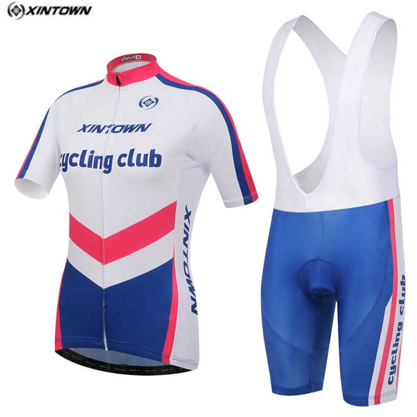 XINTOWN Women White Cycling Jersey Bib Shorts Sets Pro Bike clothing Suits Team bicycle mtb Top bottom Quick Dry