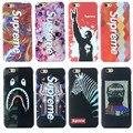 Luxury Luminous Case For iphone 7 6 6S Plus Matte Phone Cover Coques Night Flash Hard PC Supreme Cases For iphone 7 Plus 6 Plus
