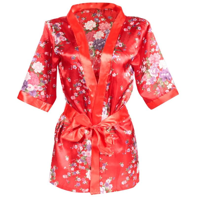 Kirsebær Blossom Kvinder Sexet Undertøj Hot Porno Japansk Kimono Kostumer Erotisk Undertøj Intimt Klæder Robe Eksotisk Apparel 5