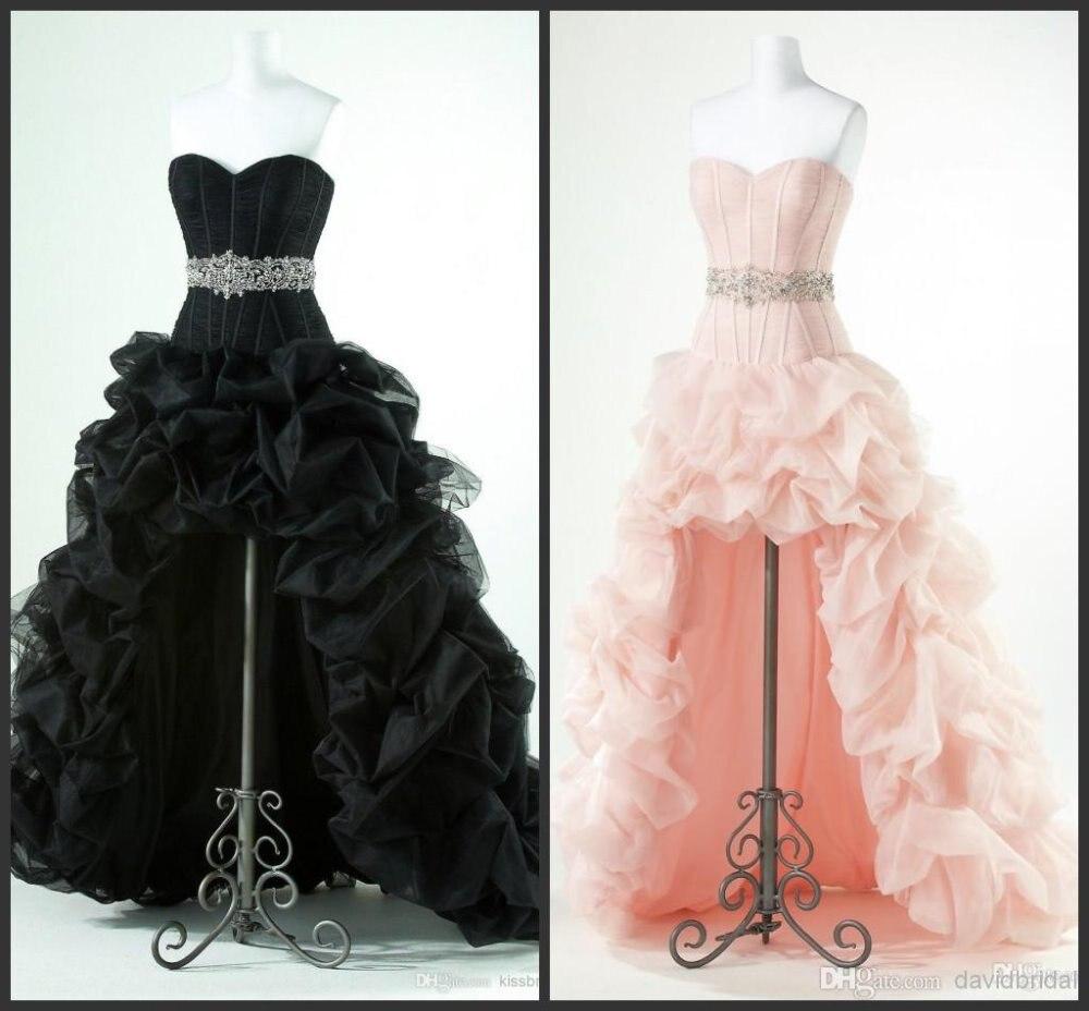 9876c80fe5 Sexy Sweetheart Floor length High Low Hi-Lo wedding Dresses waist Applique  Beaded Red Organza