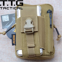 Militaire Waistpack Combat MOLLE Heuptas Cordura Nylon Militaire Telefoon Case voor Iphone 6 Plus Sumsang Note 3 4 Combat Portemonnee Tas