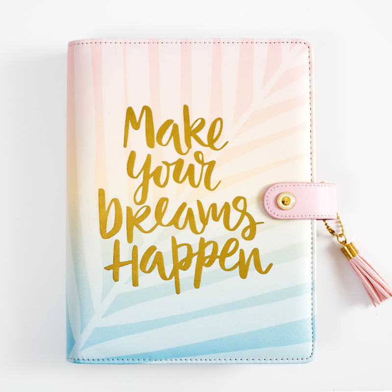Lovedoki Mid Summer Leaves Spiral Notebook travelers journal Organizer A5 Planner 2019 Creative Present Office School Supplies in Notebooks from Office School Supplies