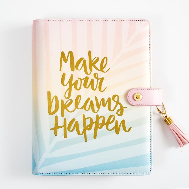 Lovedoki Mid Summer Leaves Spiral Notebook Travelers Journal Organizer A5 Planner 2020 Creative Present Office & School Supplies