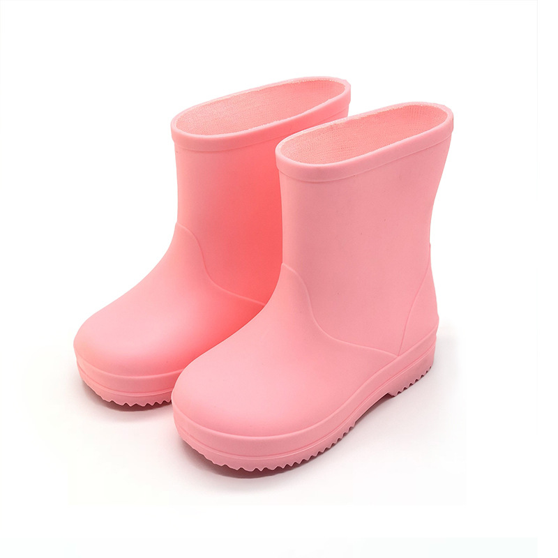 Children Boys Girls Rainboots Solid Kids Waterproof Rainshoes Infant Baby Toddler High Quality Rain Boots Pink Yellow Sky Blue in Boots from Mother Kids