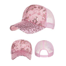 XCZJ Summer Mesh Hats Sun Protection Breathable Hat Cotton Fitted Baseball Cap Unisex Headdress Adjustable Ponytail H035