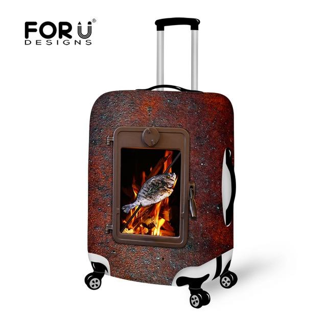 Марка забавный Fis 3D печать упругой туристические крышки багажника защитить стрейч чемодан для 18 - 30 дюймов чехол стрейч багажа футляр