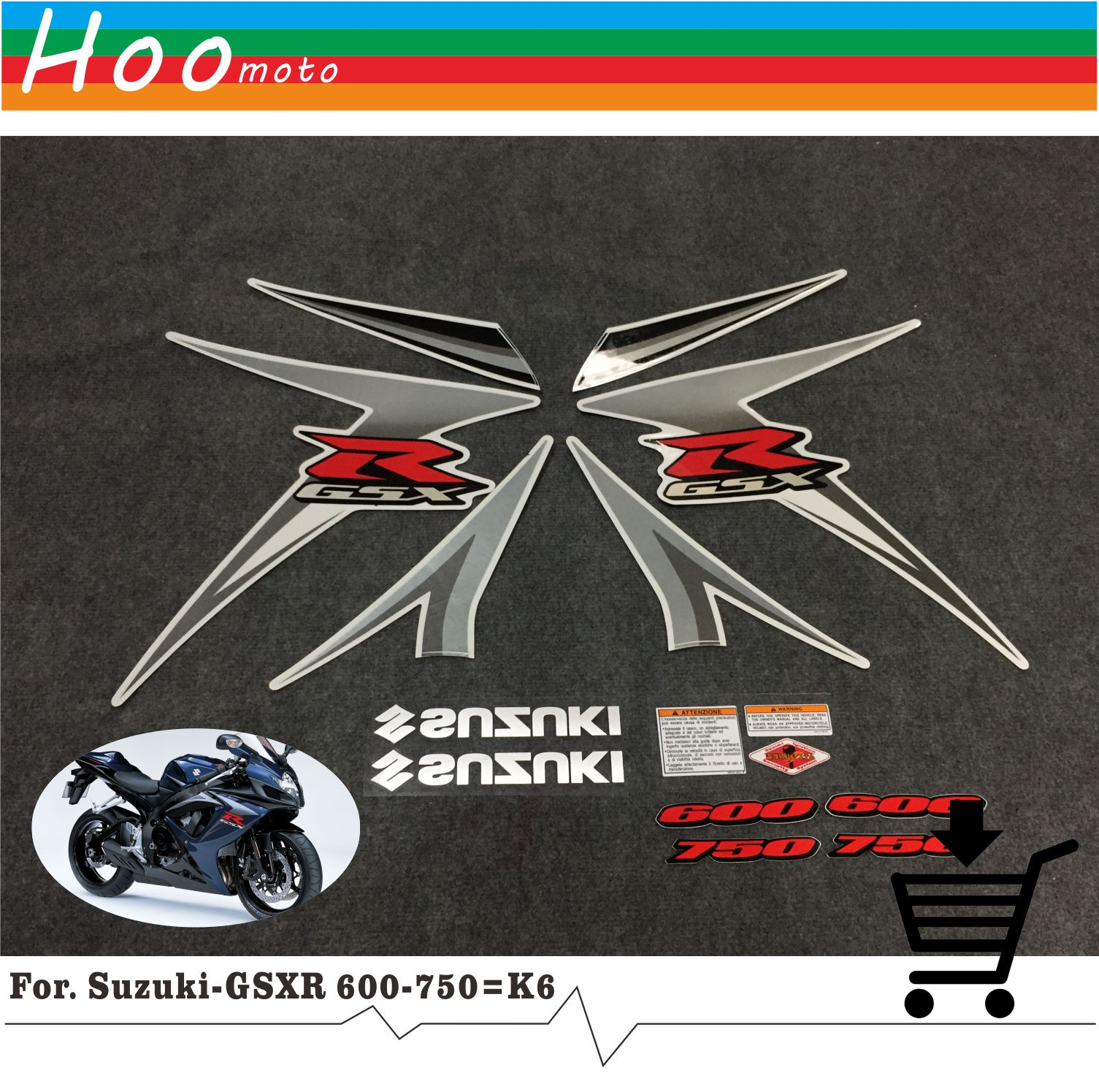 New for Suzuki GSXR GSX-R GSX R 600 K6 2007 MOTO High Quality Decals Sticker Motorcycle Car-styling Stickers More K6 K8 K11 K7 hot sale 1pc longhorn hilux 900mm graphic vinyl sticker for toyota hilux decals badges detailing sticker car styling accessories