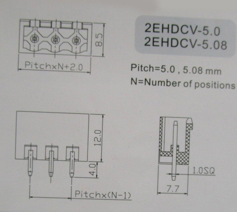 10 шт. близкий прямой 3 pin/шаг пути 5,08 мм винтовой клеммный блок соединитель зеленый цвет подключаемый тип с прямым контактом