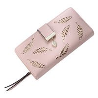 Women Wallet Leather Card Coin Holder Money Clip Long Phone Clutch Photo High Quality Photo Fashion
