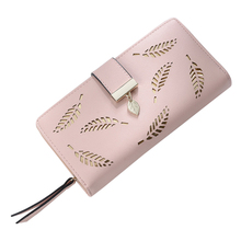 Women Wallet Leather Card Coin Holder font b Money b font font b Clip b font
