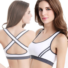 2019 Special Offer Breathable Sports Women Yoga Bra High Impact For Fitness Pad Cropped Top D4
