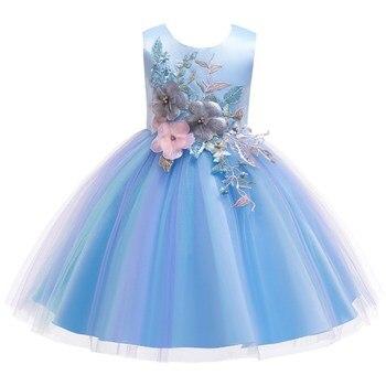 f9ebe8b37 Los niños princesa fiesta niños vestidos para niñas pastel de encaje tutú  flor 1-8