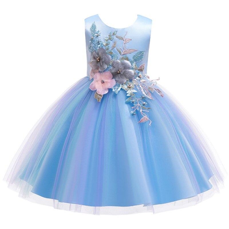 47886d123 Niños princesa fiesta niños vestidos para niñas pastel tutú encaje flor  niñas 1-8 años bebé Niñas Ropa niños vestido de fiesta de boda