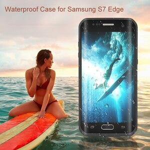 Image 2 - Funda impermeable para Samsung Galaxy S7 Edge S7, carcasa resistente al agua IP68 para buceo bajo el agua PC + TPU Armor Cover S725 a prueba de golpes a prueba de suciedad y nieve
