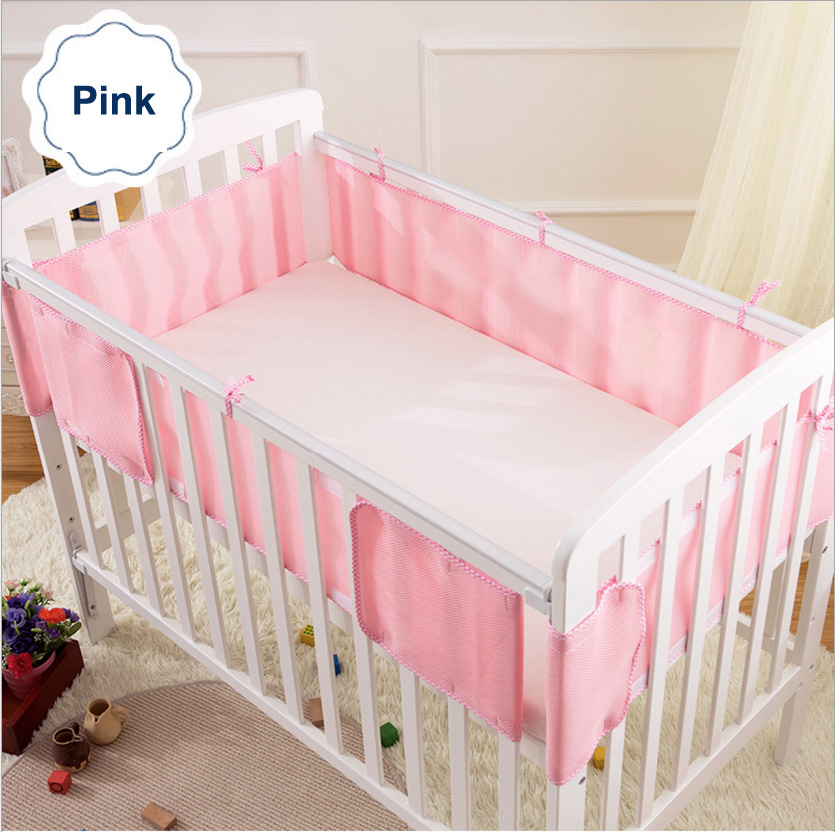 Airflow Summer Baby Bedding Bumper Crib Bed Protector Mesh