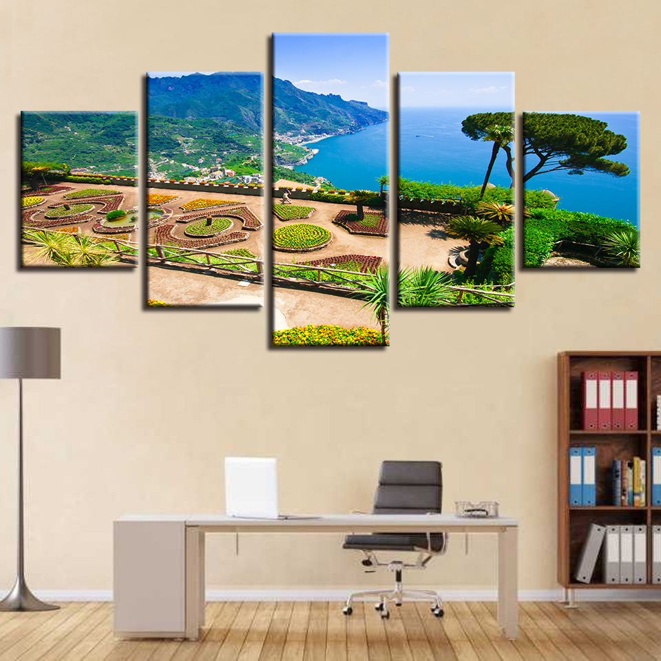 Wall Art Modern Canvas Poster Printed 5 Pieces Seaside ...