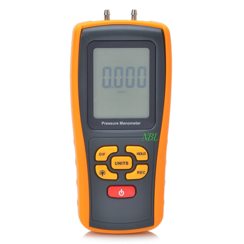 High Quality Multifunction Digital Pressure Manometer USB Interface Can connect with PC And Low Battery Indicator
