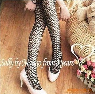 Hot Item Best discount Free shipping women's New Sexy Vogue Punk style Fine Mesh jacquard weave pantyhose tights stockings socks
