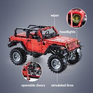 Image 5 - CADA télécommande Jeep Wrangler voiture technique aventurier blocs de construction briques ensemble enfants garçons jouets éducatifs anniversaires cadeaux