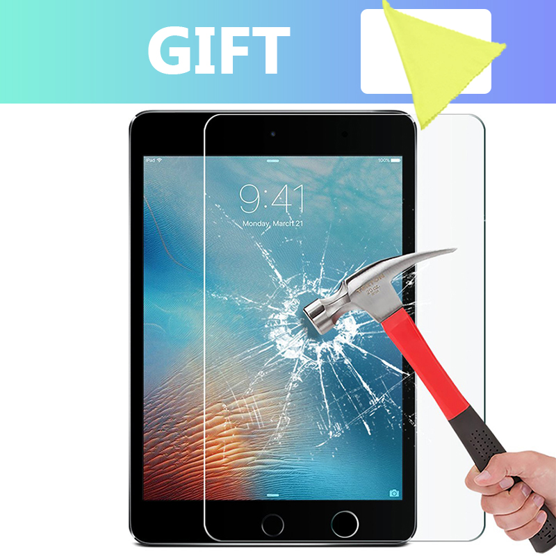 Tempered Glass For Apple IPad 9.7 Inch 2018 2017 Pro 10.5 11 Glass For IPad Air 2 Mini 1 2 3 4 Screen Protector Protective Film