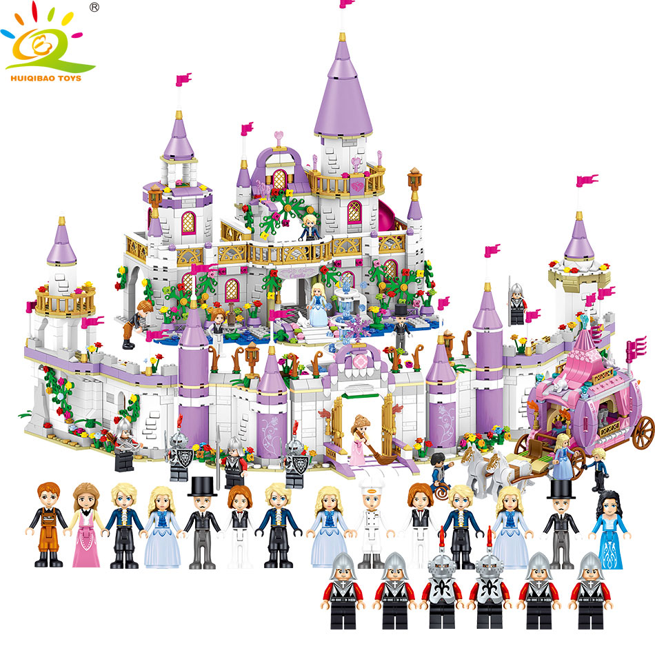 5Styles Castle Princess Figures Sets Building Blocks Compatible Legoed Friend Bricks City Girls Educational Toy for Children sembo toy military watchtower building blocks bricks compatible legoed city action toy figures enlighten bricks toy for children